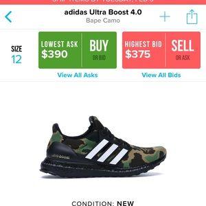 sale retailer 6923e dc349 adidas Shoes - Bape x Adidas UltraBoost - SIZE 12